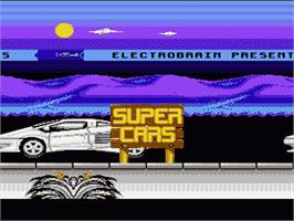 Title screen of Super Cars on the Nintendo NES.