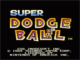 Title screen of Super Dodge Ball on the Nintendo NES.