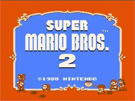 Title screen of Super Mario Bros. 2 on the Nintendo NES.