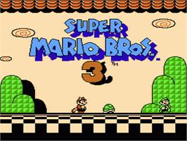 Title screen of Super Mario Bros. 3 on the Nintendo NES.