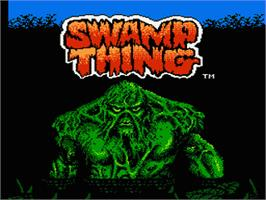 Title screen of Swamp Thing on the Nintendo NES.