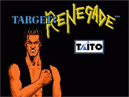 Title screen of Target Renegade on the Nintendo NES.
