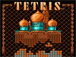 Title screen of Tetris on the Nintendo NES.