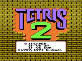 Title screen of Tetris 2 on the Nintendo NES.