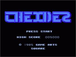 Title screen of Thexder on the Nintendo NES.