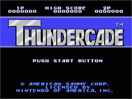 Title screen of Thundercade / Twin Formation on the Nintendo NES.
