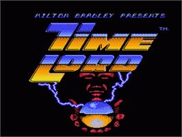 Title screen of Time Lord on the Nintendo NES.