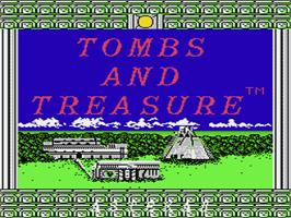 Title screen of Tombs & Treasure on the Nintendo NES.