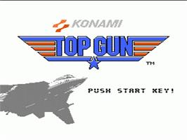 Title screen of Top Gun: The Second Mission on the Nintendo NES.