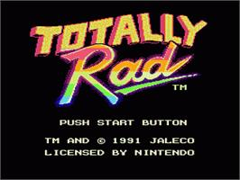Title screen of Totally Rad on the Nintendo NES.
