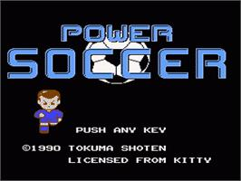 Title screen of Tower Toppler on the Nintendo NES.
