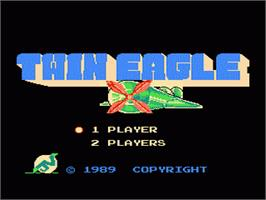 Title screen of Twin Eagle - Revenge Joe's Brother on the Nintendo NES.
