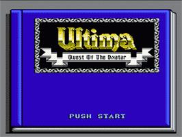 Title screen of Ultima IV: Quest of the Avatar on the Nintendo NES.