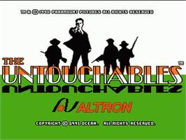 Title screen of Untouchables on the Nintendo NES.