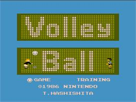 Title screen of Volley Ball on the Nintendo NES.