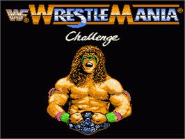 Title screen of WWF Wrestlemania Challenge on the Nintendo NES.