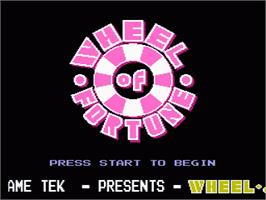 Title screen of Wheel Of Fortune: Featuring Vanna White on the Nintendo NES.