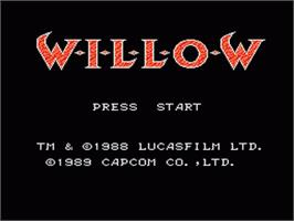 Title screen of Willow on the Nintendo NES.