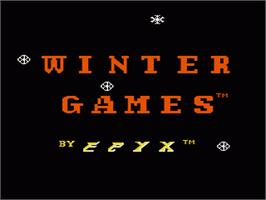 Title screen of Winter Games on the Nintendo NES.