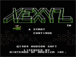 Title screen of Xexyz on the Nintendo NES.