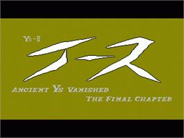 Title screen of Ys II: Ancient Ys Vanished: The Final Chapter on the Nintendo NES.