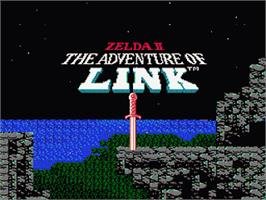 Title screen of Zelda II: The Adventure of Link on the Nintendo NES.