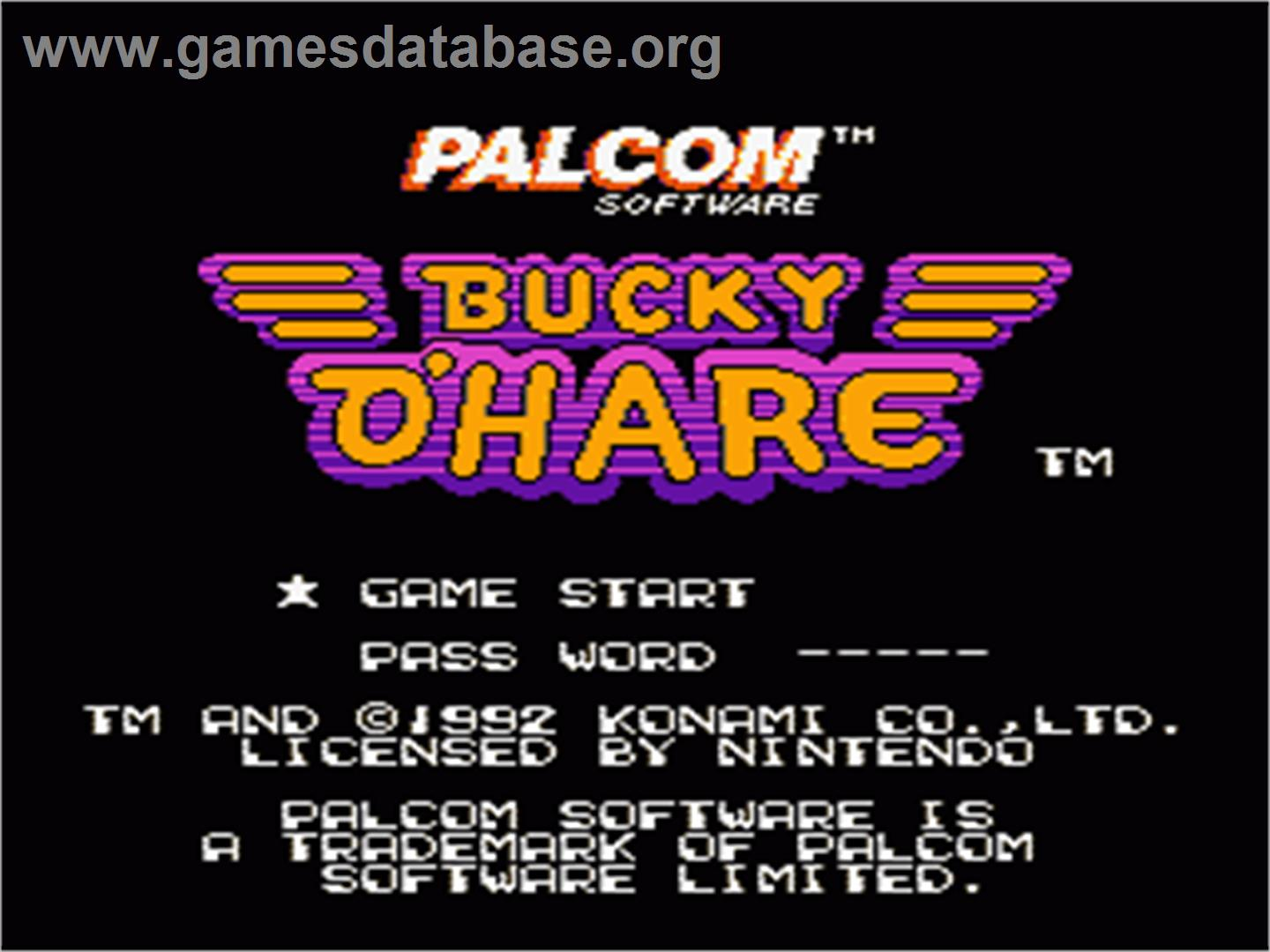 Bucky O'Hare - Nintendo NES - Artwork - Title Screen