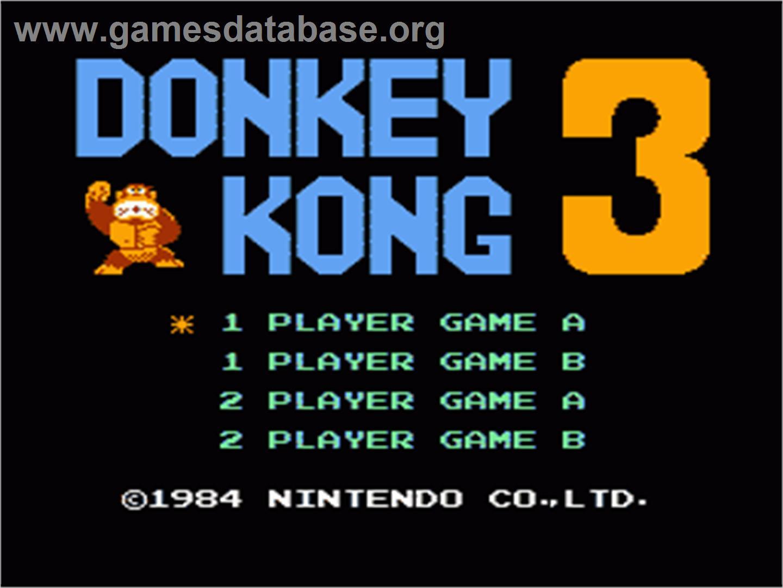 donkey kong 3 nintendo nes games database. Black Bedroom Furniture Sets. Home Design Ideas