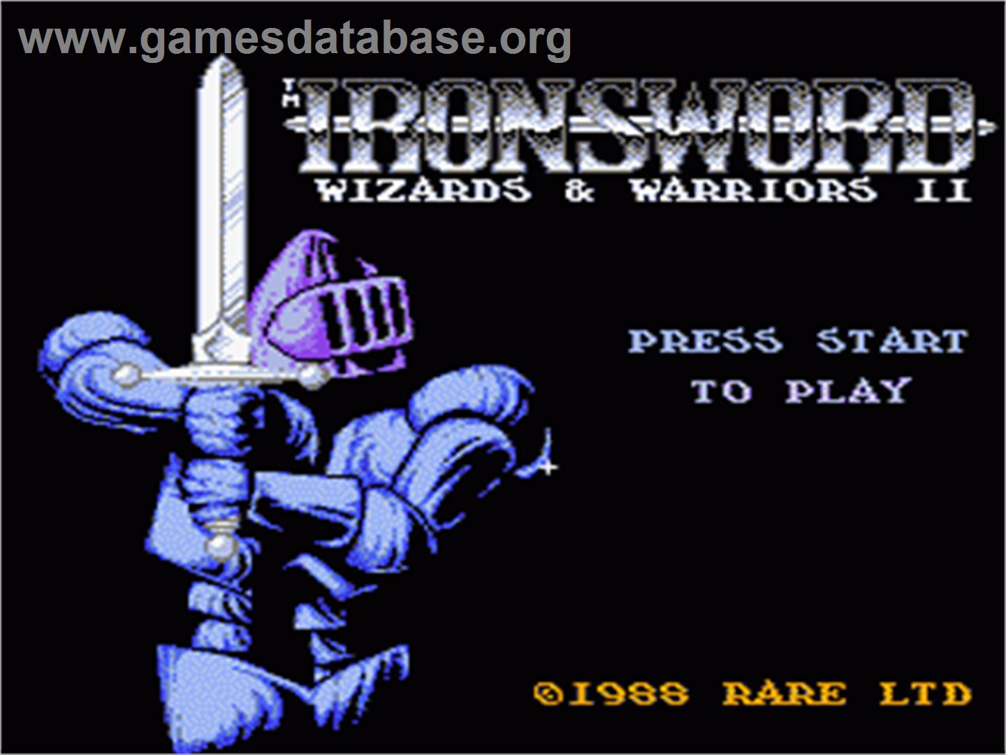 Ironsword: Wizards & Warriors 2 - Nintendo NES - Artwork - Title Screen