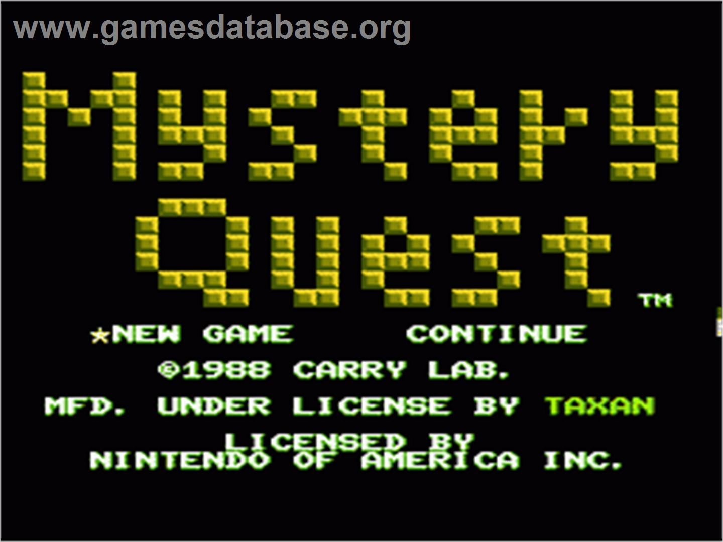 lab goodname mystery quest year 1988 tosec mystery quest category