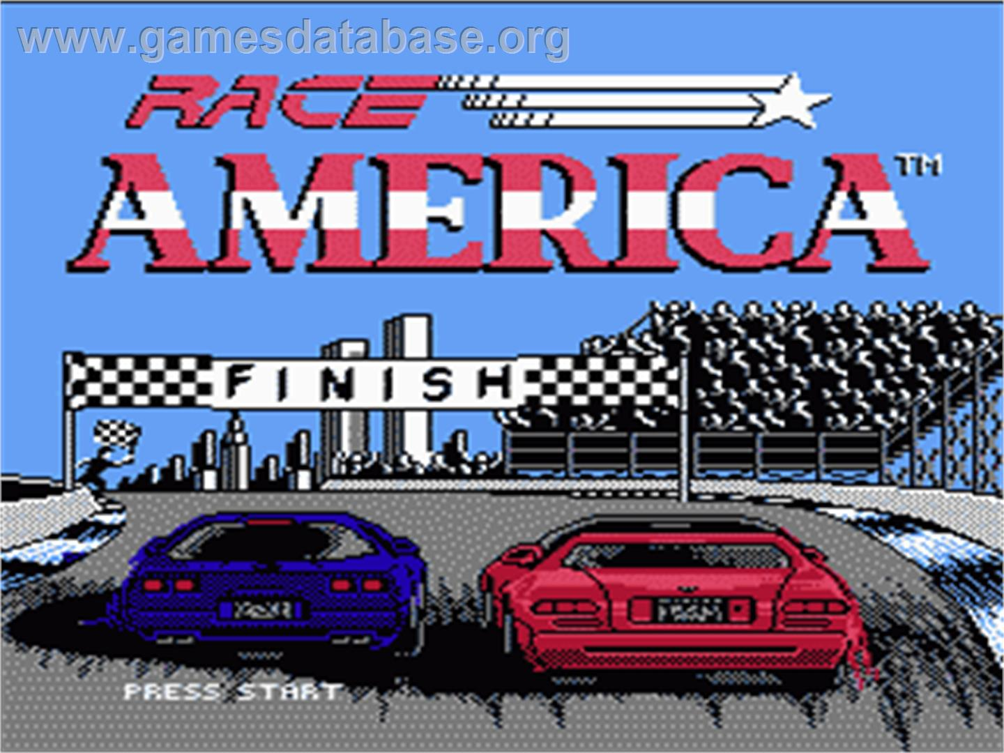 Race America - Nintendo NES - Artwork - Title Screen