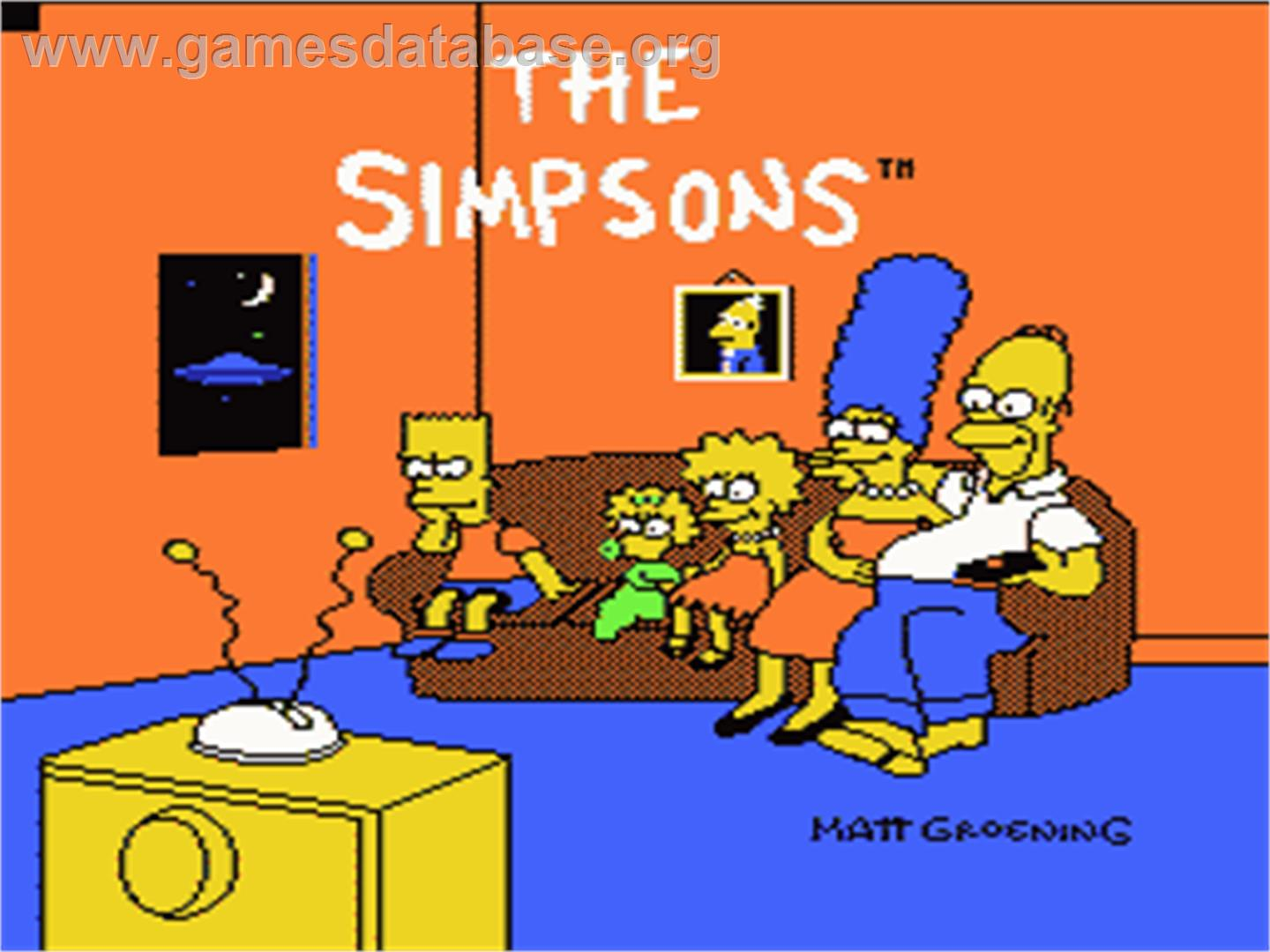 Simpsons: Bart vs. the Space Mutants - Nintendo NES - Artwork - Title Screen