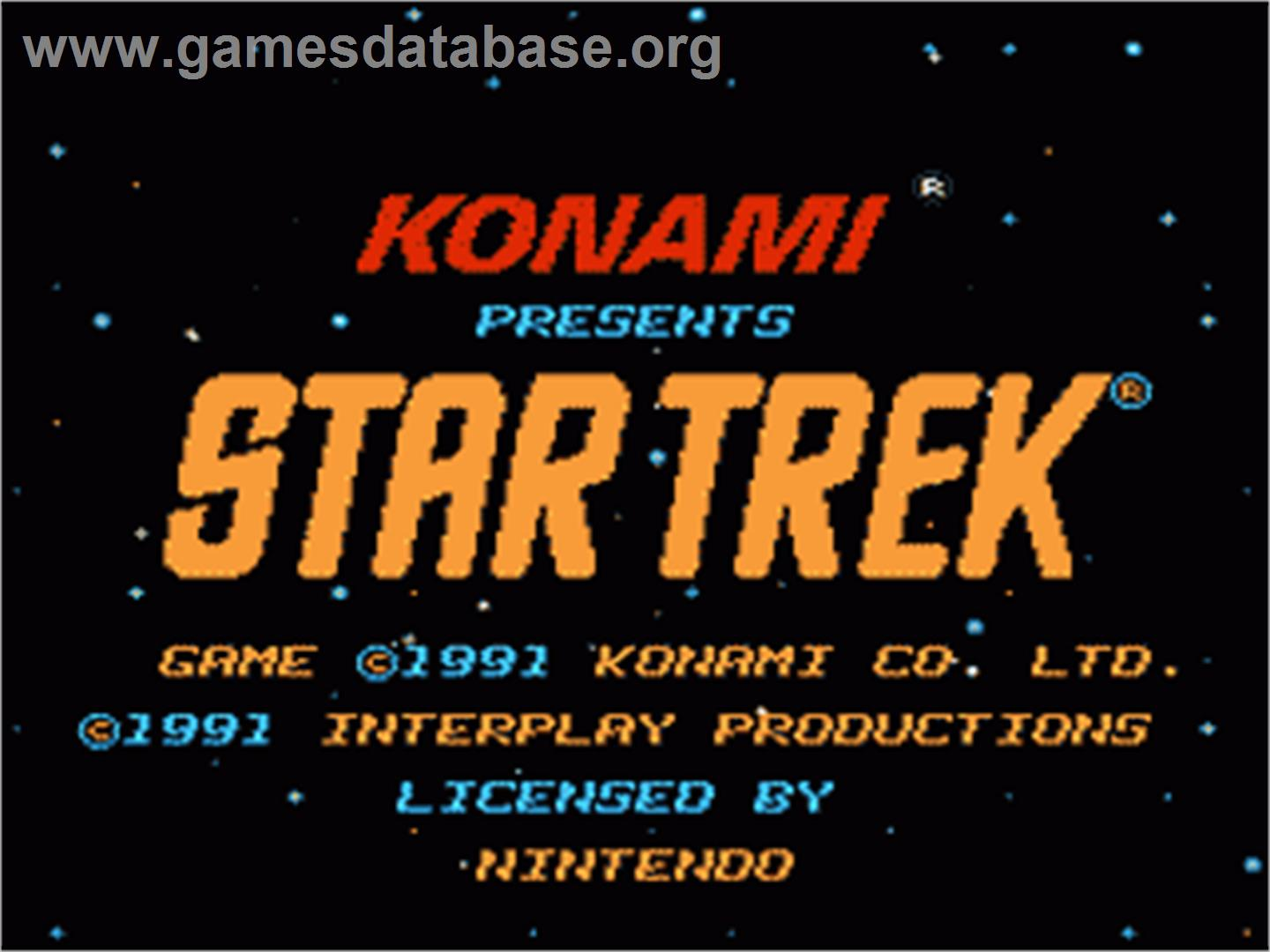 Star Trek 25th Anniversary - Nintendo NES - Artwork - Title Screen