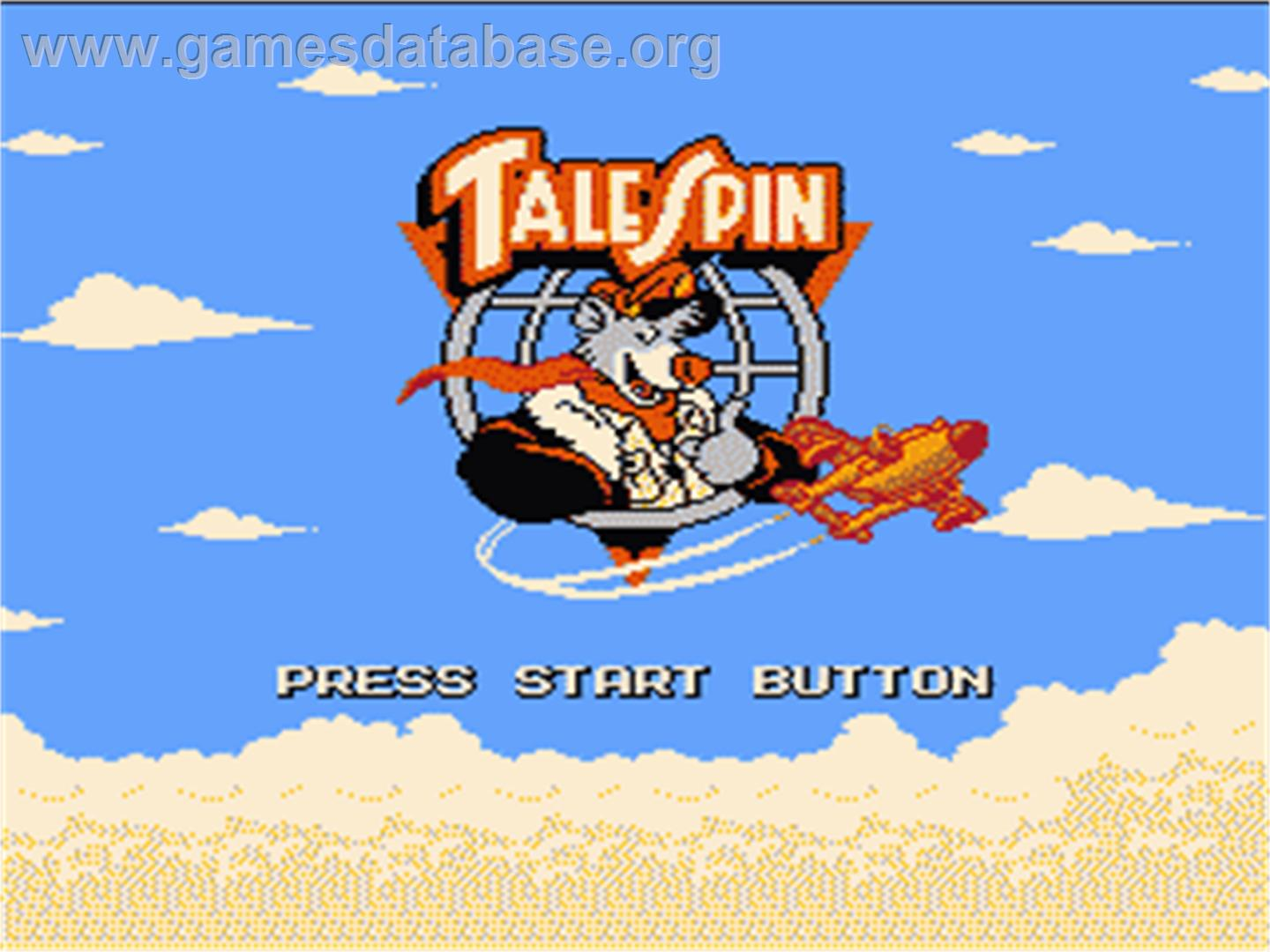 TaleSpin - Nintendo NES - Artwork - Title Screen