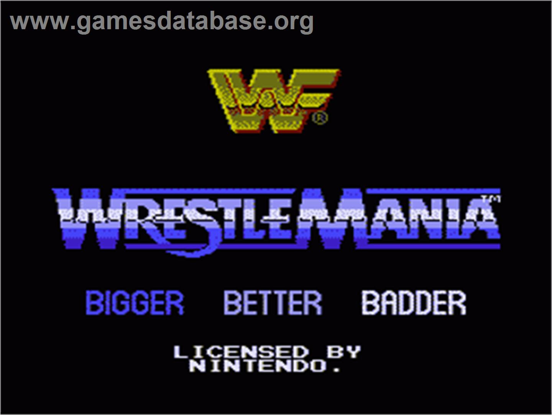 WWF Wrestlemania - Nintendo NES