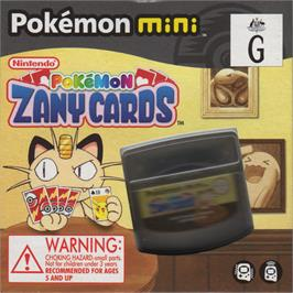 Box cover for Pokemon Zany Cards on the Nintendo Pokemon Mini.