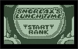Box cover for Snorlax's Lunch Time on the Nintendo Pokemon Mini.