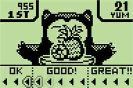 In game image of Lunch Time on the Nintendo Pokemon Mini.