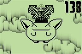 In game image of Pichu Bros. Mini - Hoppip's Jump Match on the Nintendo Pokemon Mini.