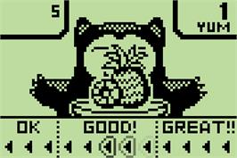 In game image of Snorlax's Lunch Time on the Nintendo Pokemon Mini.