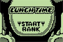 Title screen of Lunch Time on the Nintendo Pokemon Mini.