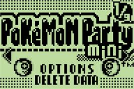 Title screen of Pokemon Party Mini on the Nintendo Pokemon Mini.
