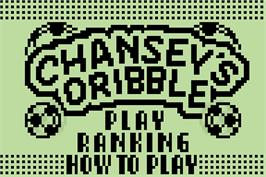 Title screen of Pokemon Party Mini - Chansey's Dribble on the Nintendo Pokemon Mini.