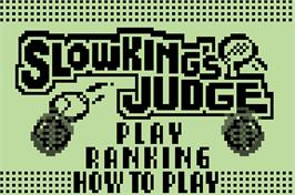 Title screen of Pokemon Party Mini - Slowking's Judge on the Nintendo Pokemon Mini.