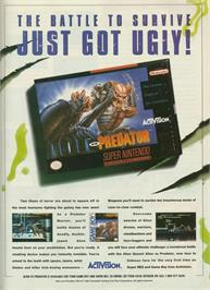 Advert for Alien Vs. Predator on the Nintendo SNES.