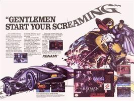 Advert for Batman Returns on the Nintendo SNES.