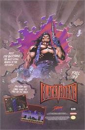 Advert for Blackthorne on the Sega 32X.