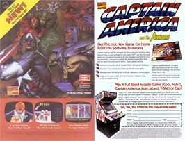 Advert for Captain America and the Avengers on the Nintendo SNES.