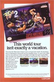 Advert for Final Fight 2 on the Nintendo SNES.
