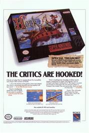 Advert for Hook on the Nintendo SNES.